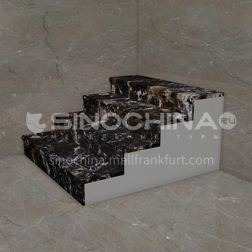 Natural black hot sale marble staircase M-AA30H