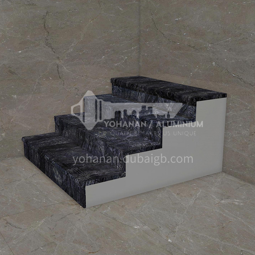 Natural black hot selling marble staircase M-GA02M
