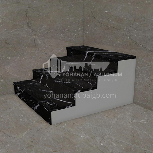 House decoration hot sale  black marble stone stairsM-H887G