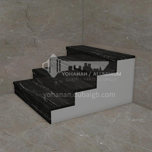 Natural black light luxury marble staircase M-H090G