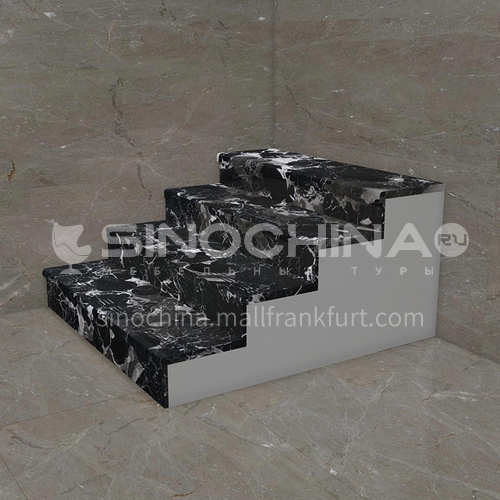 Natural black light luxury marble staircase M-HA94M