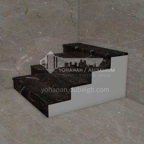 Natural black building material marble staircase M-J098Y
