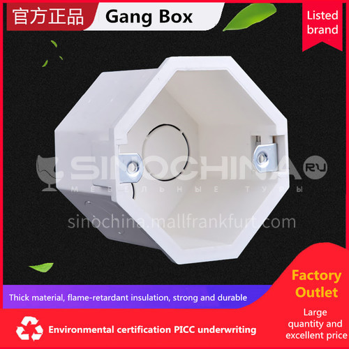 Gang Box (With 8 active feet, concealed installation) (PVC Conduit Fittings)
