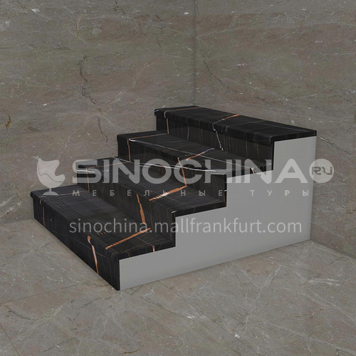 Natural luxury black marble staircase M-LC55J