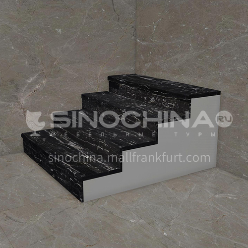 Natural black hot selling marble staircase M-Y077L