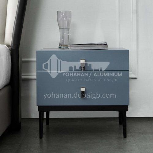 BC-B628- Postmodern, light luxury and simple style, solid wood drawers, stainless steel legs, bedroom storage cabinets, light luxury and simple bedside tables