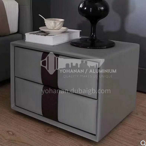 BC-B658- Postmodern light luxury and simple style, solid wood drawers, stainless steel feet, bedroom storage cabinets, light luxury and simple bedside tables