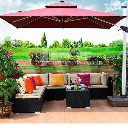 JOZL-SETGLMS-01 Outdoor Luxury Exclusive Feature Outdoor Outdoor Umbrella/Double Top/Multiple Colors Available