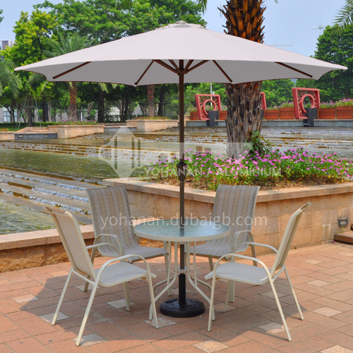 JOZL-XWZZS-01 Outdoor luxury fiber central pillar outdoor open-air umbrella/Can choose a variety of colors/With shaking hands, without shaking head
