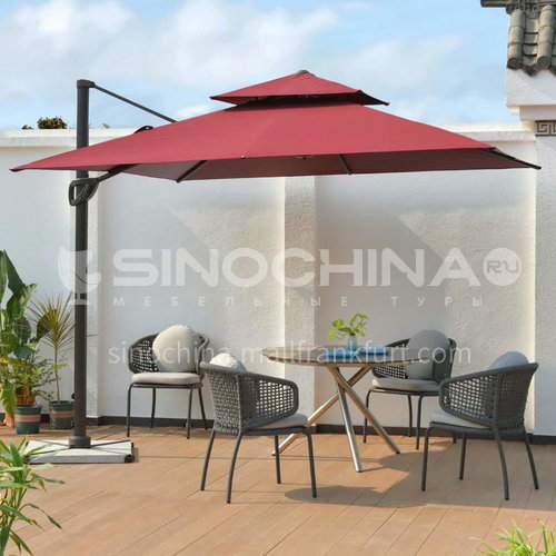 JOZL- Outdoor Mini Roman Outdoor Outdoor Umbrella/Double Top/A variety of colors available/PU polyester fabric, no vertical edges