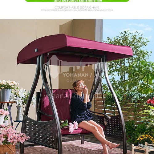 JOZL- New aluminum outdoor swing, stable, durable and fashionable, leisure in courtyard garden