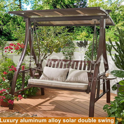 JOZL-314 Outdoor swing courtyard garden villa hanging chair solar swing + aluminum alloy