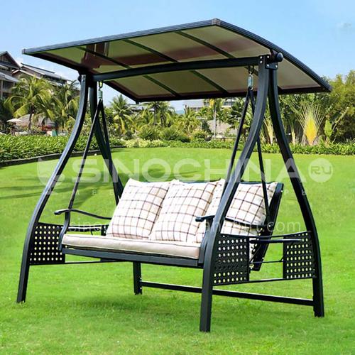 JOZL- Outdoor courtyard garden villa hanging chair swing + cast aluminum