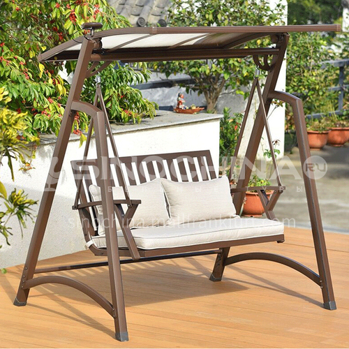 JOZL- Outdoor courtyard garden villa hanging chair solar swing/aluminum alloy