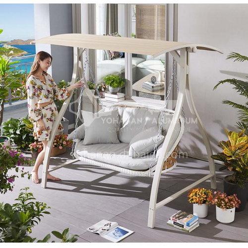 JOZL- Outdoor courtyard garden villa hanging chair swing/aluminum alloy + rattan