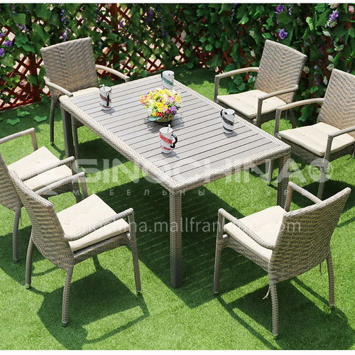 MSSM-PS12,13,14 outdoor table and chair courtyard terrace villa high-grade armrest rattan chair