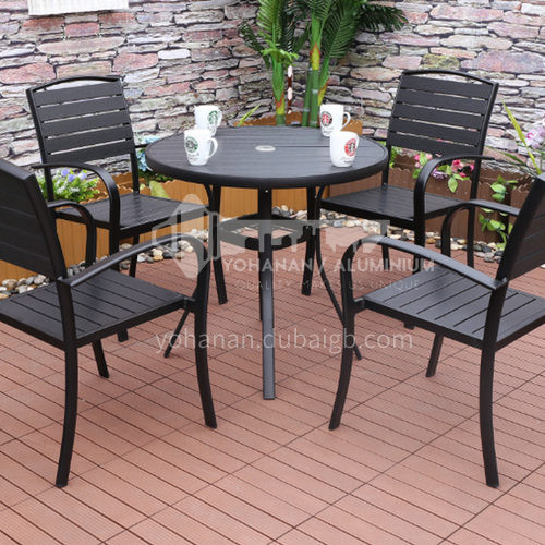 MSSM-PS018,19AB,20,21,74,41,42,53,54,55 Outdoor table and chair courtyard terrace villa high-grade black, black plastic wood