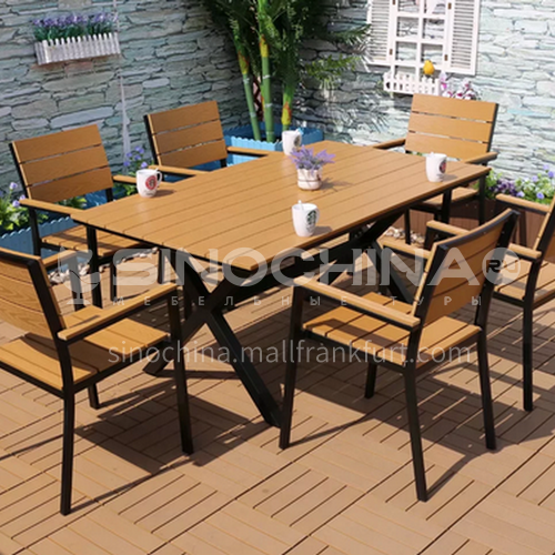 MSSM-PS037,28,79,78,77,76,75,69,68,67 Outdoor table and chair courtyard terrace villa high-grade black sand pattern black frame