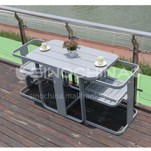 MSSM-PS066 Outdoor table and chair courtyard terrace villa high-grade plastic wood storage table and chair