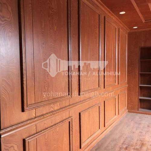 Bamboo and wood fiber quick-installed wall panel TV background wall wall panel PVC gusset fast-installed decorative wall panel Wood grain series 3