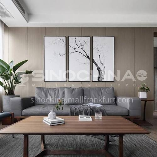 Bamboo and wood fiber quick-installed wall panel TV background wall wainscot PVC gusset fast-installed decorative wall panel Wood grain series 1