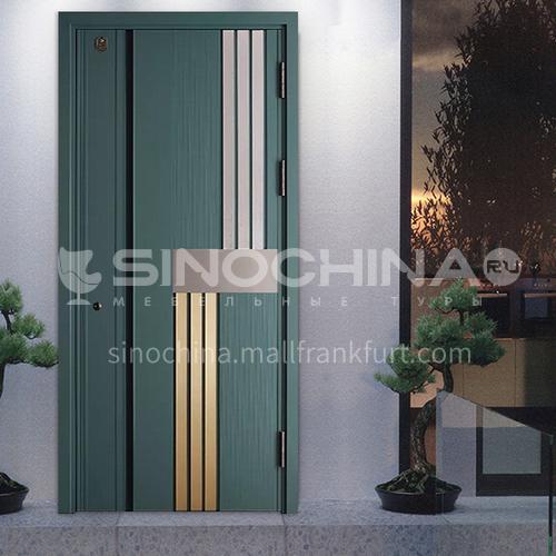 Fashion two-color door Class A security door Practical anti-theft door