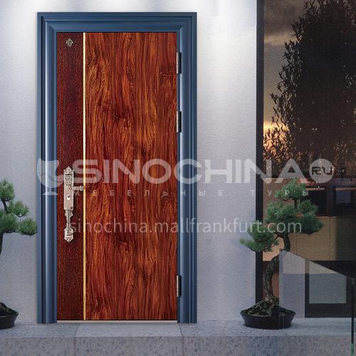 High-end door wood grain color grade A security door villa anti-theft door