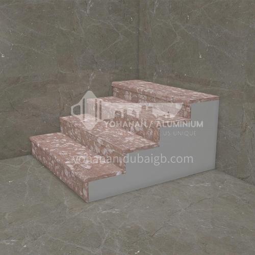Natural red modern marble staircase M-YA99B