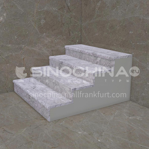 Natural white light luxury marble staircase M-ZC11B