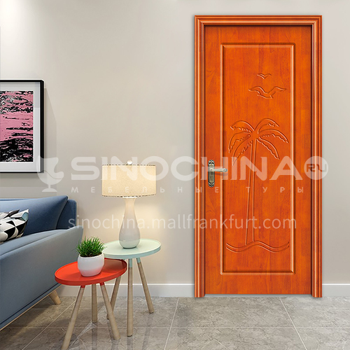 Custom oak solid wood simple design bed room living room interior door 61