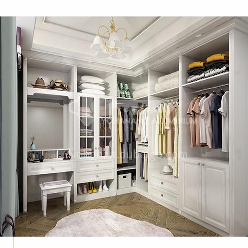 European style wardrobe classical PVC WITH HDF wardrobe-GW-088