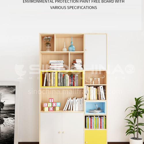 XDD-6609 Simple and modern combination of bedroom and living room, bedroom home bookcase, storage cabinet combination