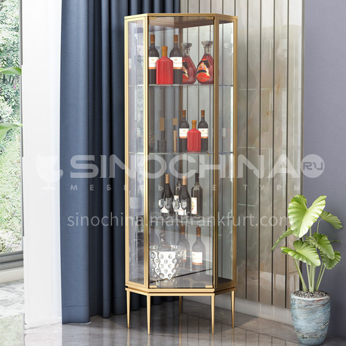 Stainless Steel Luxury Corner Wine Cabinet