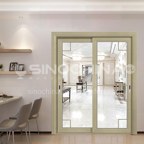 1.4mm aluminum alloy modern minimalist light luxury soundproof sliding door 1