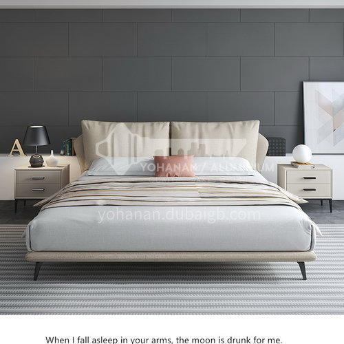 BC-2007 Russian imported larch, high-quality cotton cloth, solid wood board, carbon steel, hardware feet, high-density sponge, high-quality cotton, light luxury bed