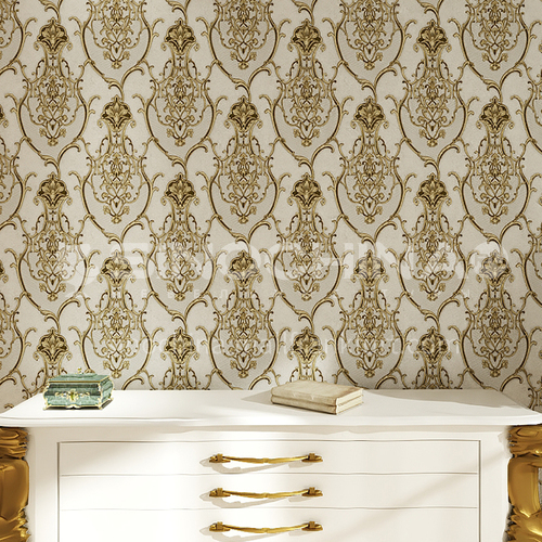 Waterproof and mildew proof living room bedroom wallpaper Classical style Wallpaper 728 Wall decoration