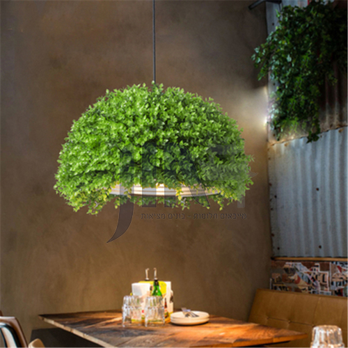 Hot Pot Shop Coffee Shop Green Plant Chandelier Theme Music Restaurant Milk Tea Shop Commercial Industrial Chandelier WYN-8120-D1