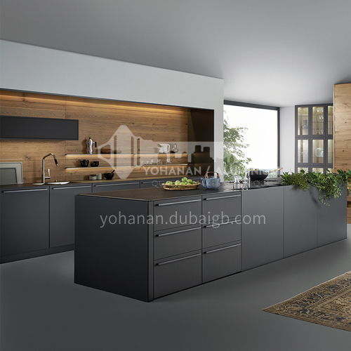 2020 Hot sale Modern UV Lacquer with plywood Kitchen cabinet-GK-005