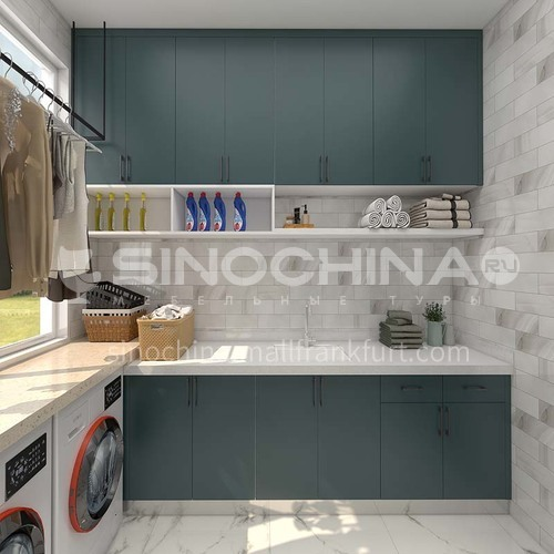 Modern style simple design high density board blister laundry room cabinet GF-020