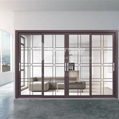 1.6mm new design aluminum sliding door with double glass