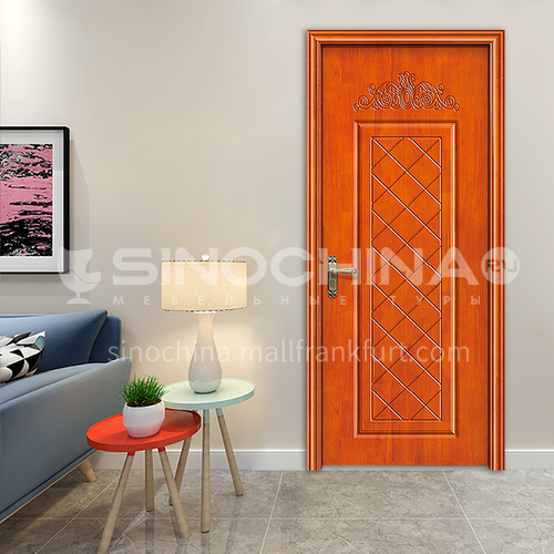 Chinese classical oak solid wood door Saudi style interior room bedroom door living room door design 82