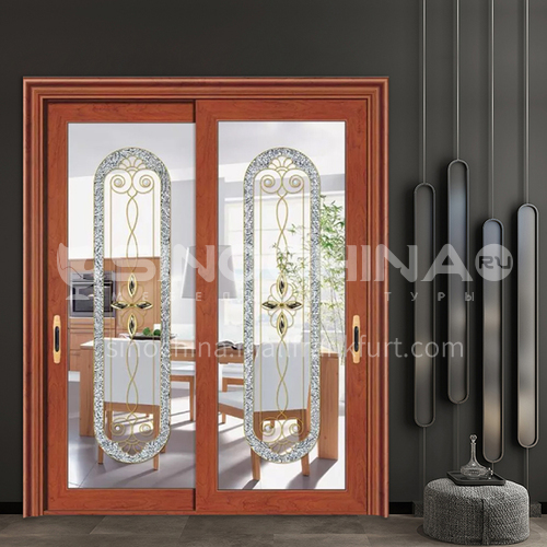 1.4mm aluminum alloy two-track sliding door luxury decoration instead of glass