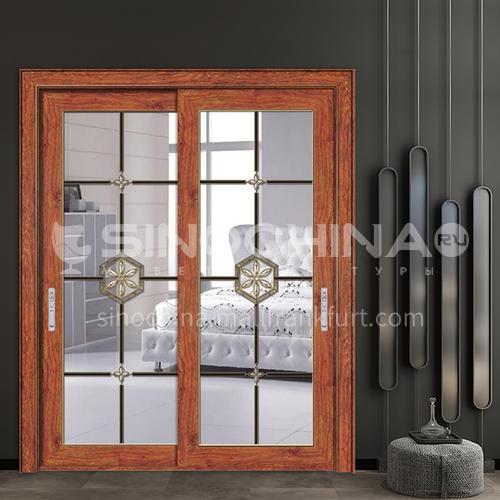 1.4 mm lattice strip inlaid style aluminum alloy sliding door