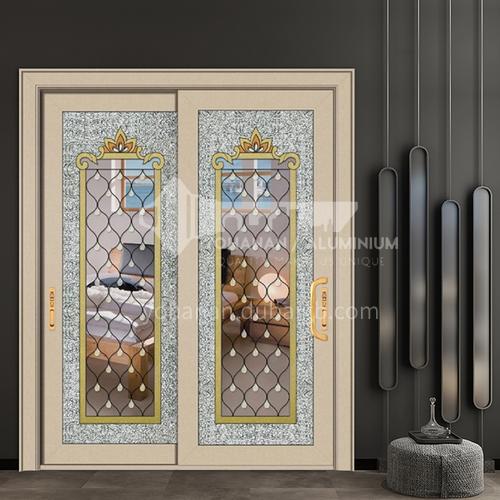 Aluminum alloy craft glass sliding door