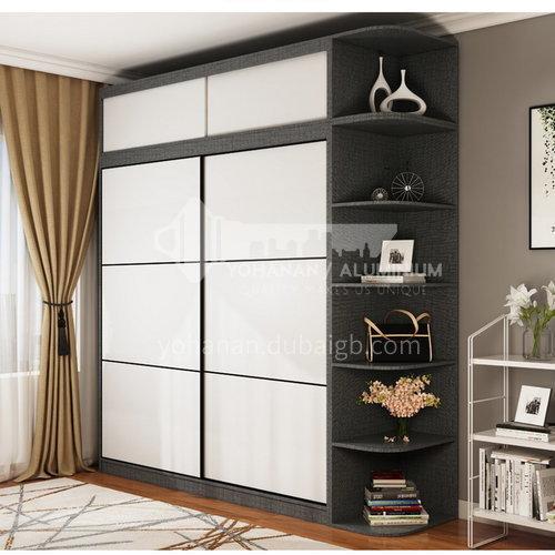 XDD-5520- Nordic modern style, paint-free board, storage grid, high-end sliding door, Nordic modern wardrobe