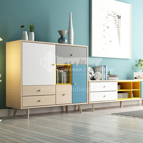 XDD- Nordic minimalist style, paint-free board, beech wood panel, fashionable lockers, Nordic minimalist lockers