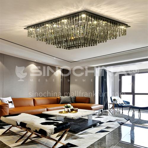Modern living room ceiling lamp led crystal lamp living room rectangular bedroom lamp GD-1215
