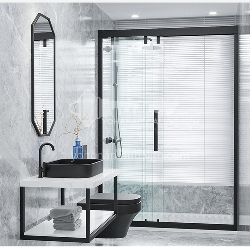 DELI   shower glass   Three linkage   shower partition  tempered glass