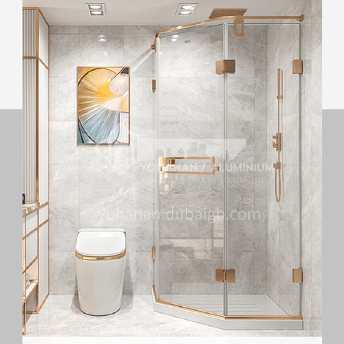DELI  Shower room    household shower glass   tempered glass    shower partition