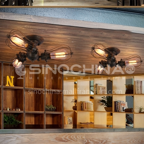 American country personality creative chandelier living room bedroom restaurant industrial style retro bar cafe ceiling lamp WYN-7895-D6